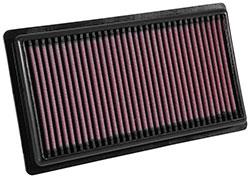 Le filtre à air 3080 de K&N comprend un support de gaze en coton multicouche traité avec de l'huile.